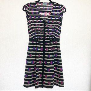 Cynthia Rowley size 4 print button dress pockets
